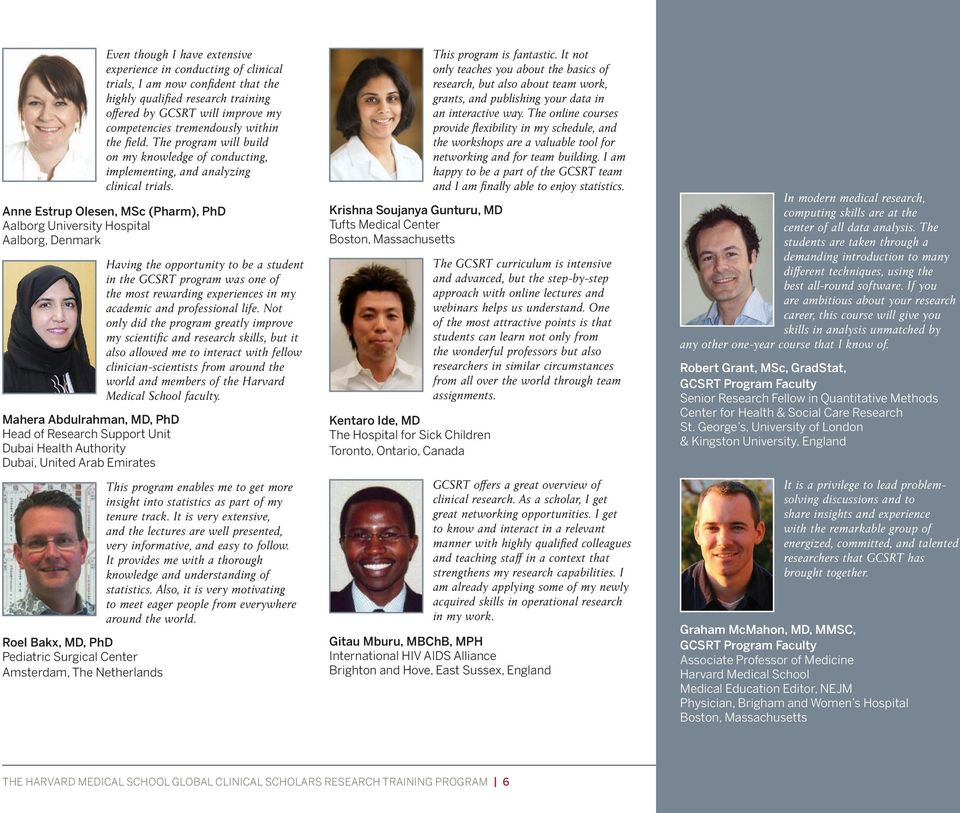 The Harvard Medical School Global Clinical Scholars Research