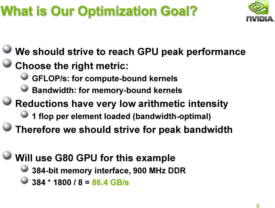 Optimizing Parallel Reduction in CUDA  Mark Harris NVIDIA