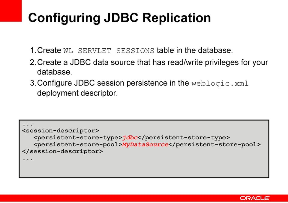 Insert Picture Here> WebLogic High Availability Infrastructure