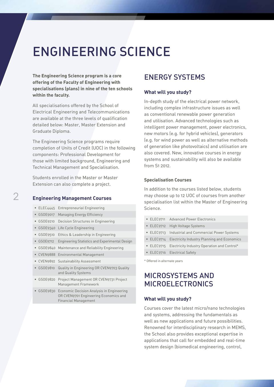 School of Electrical Engineering and Telecommunications - PDF