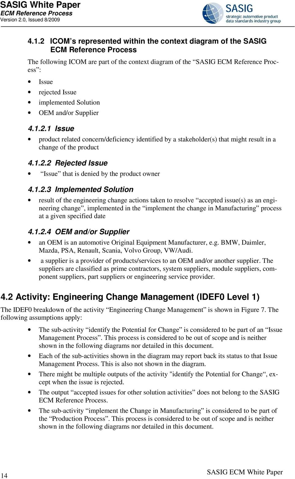 White Paper  Engineering Change Management Reference Process