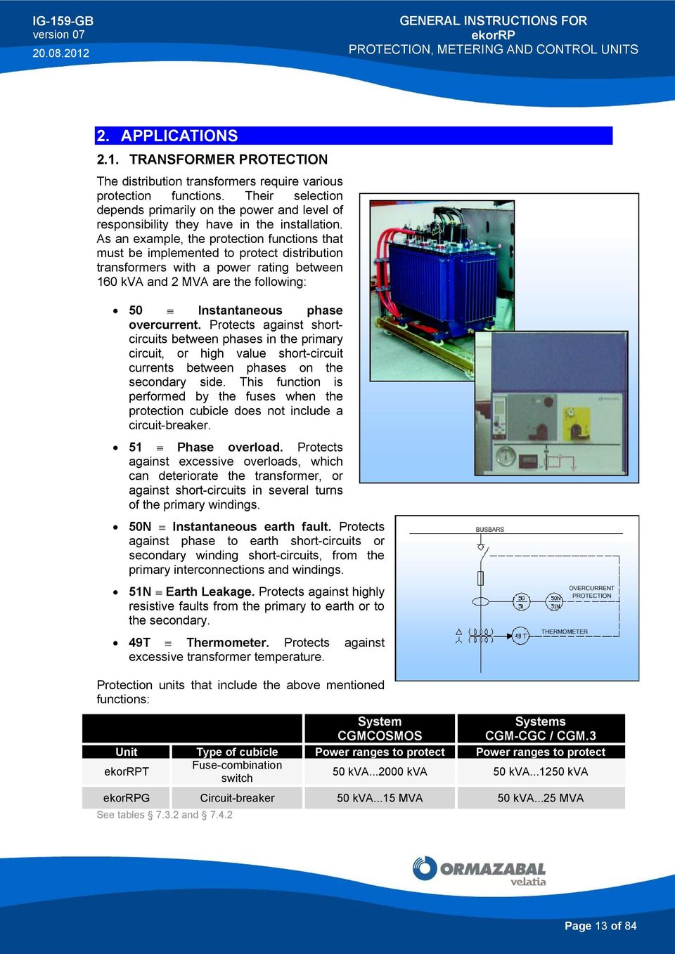 ekorrp PROTECTION, METERING AND CONTROL UNITS - PDF