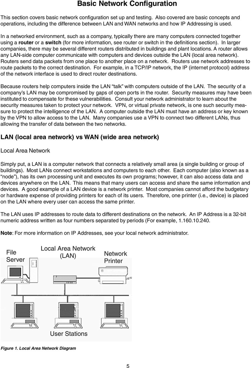 Basic Network Configuration - PDF