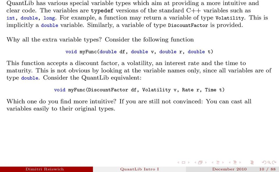 Introduction to Selected Classes of the QuantLib Library I - PDF