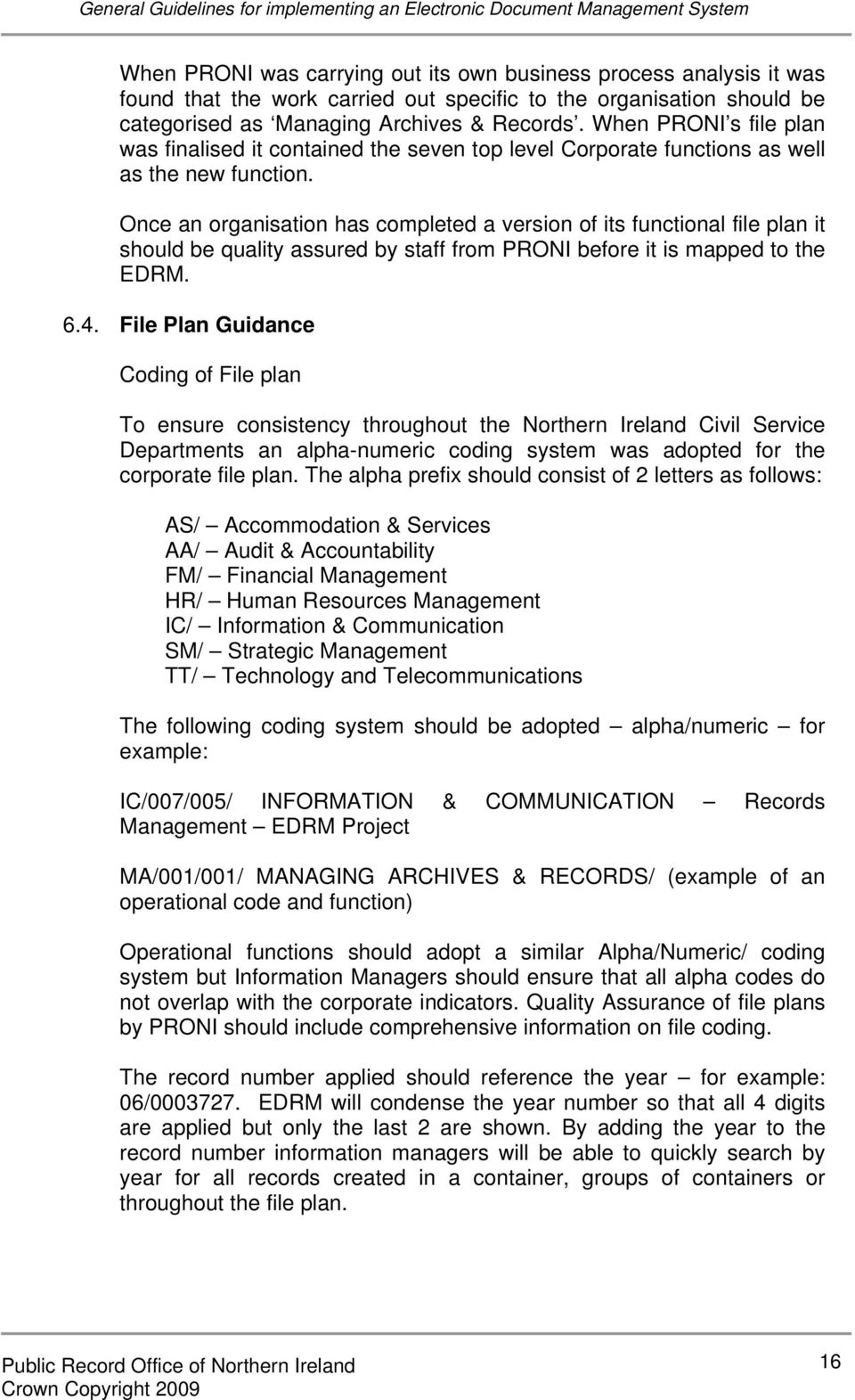 General Guidelines For Implementing An Electronic Document And