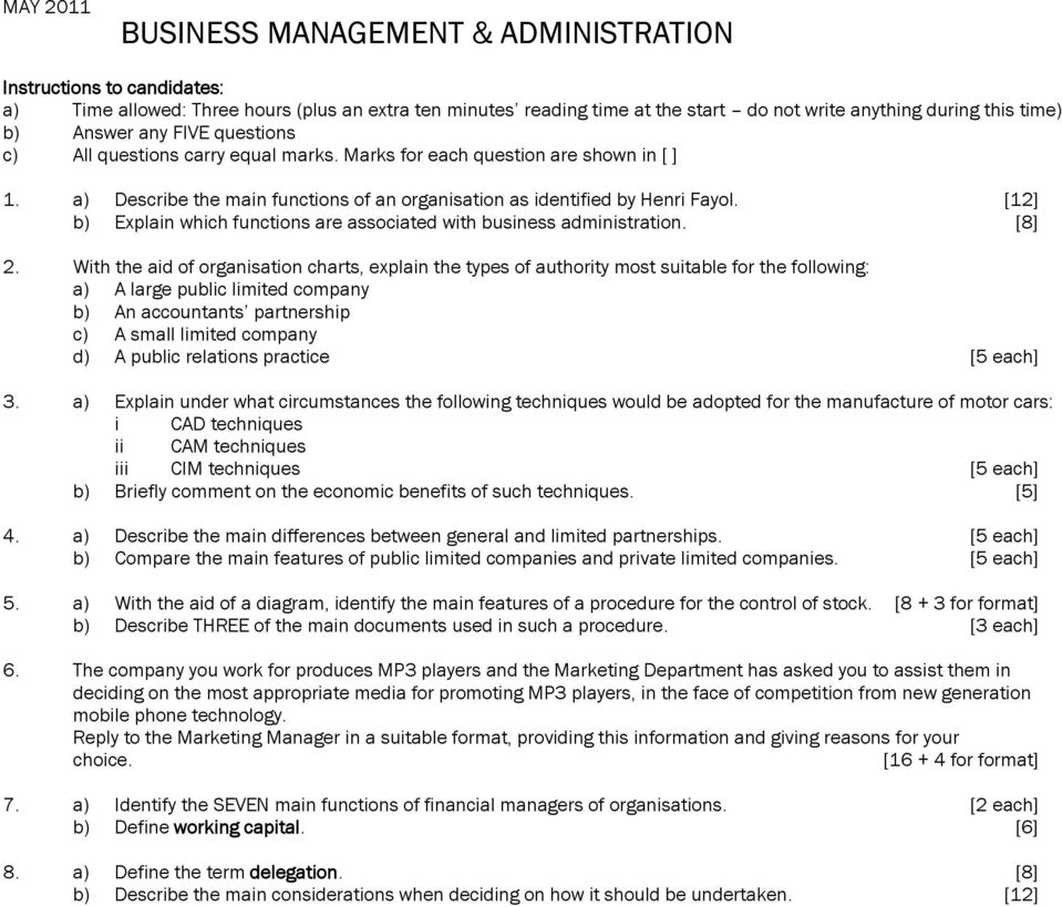Business Management & Administration - PDF
