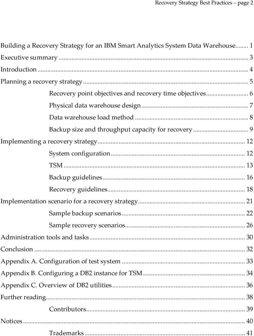 Best Practices  IBMr  Building a Recovery Strategy for an