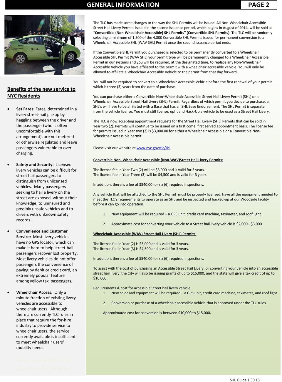 Guide To Understanding The Street Hail Livery Shl Service Rules And Requirements Pdf Free Download