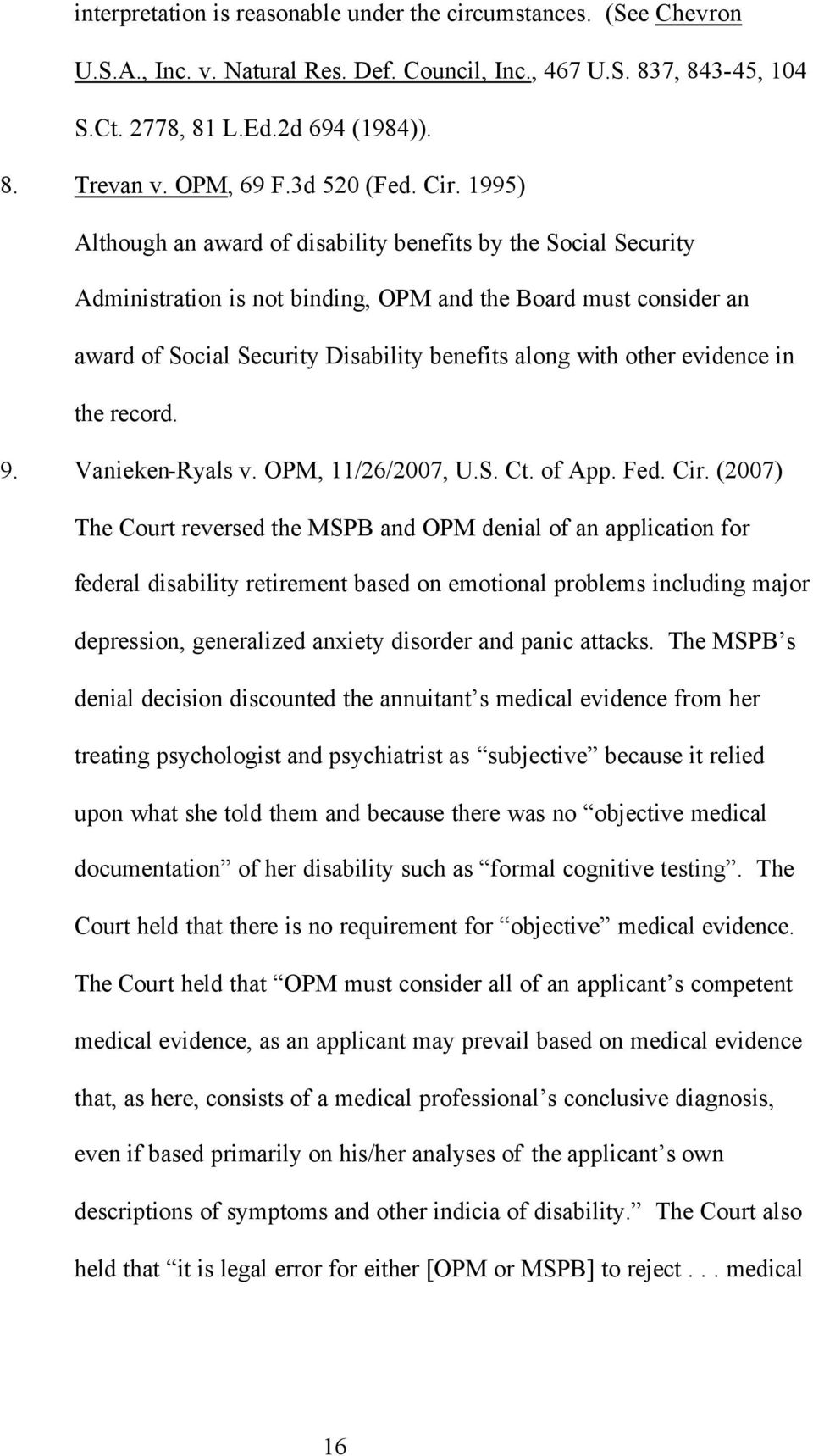 1995 Although An Award Of Disability Benefits By The Social Security Administration Is Not Binding