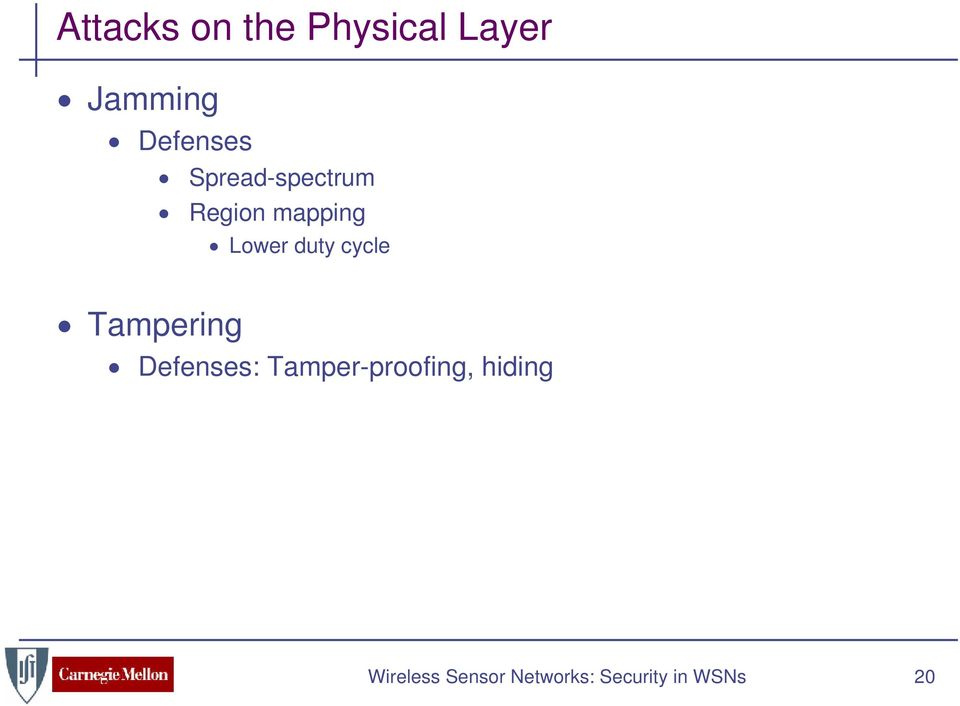 duty cycle Tampering Defenses: