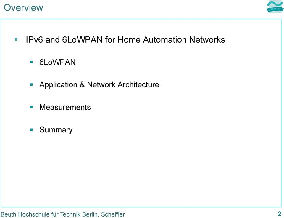 Using IPv6 and 6LoWPAN for Home Automation Networks - PDF