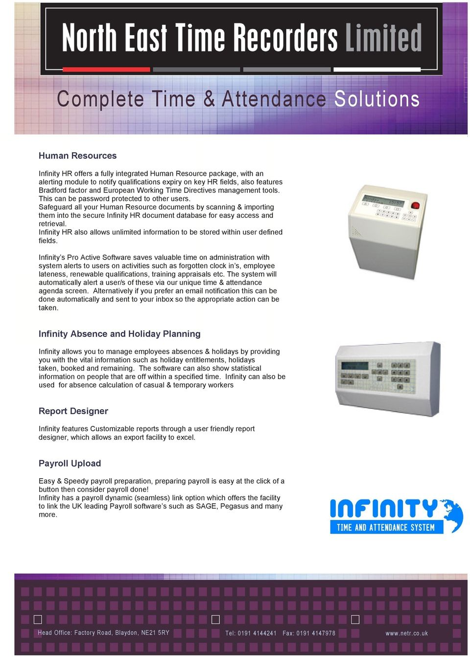 Infinity Time & Attendance System - PDF