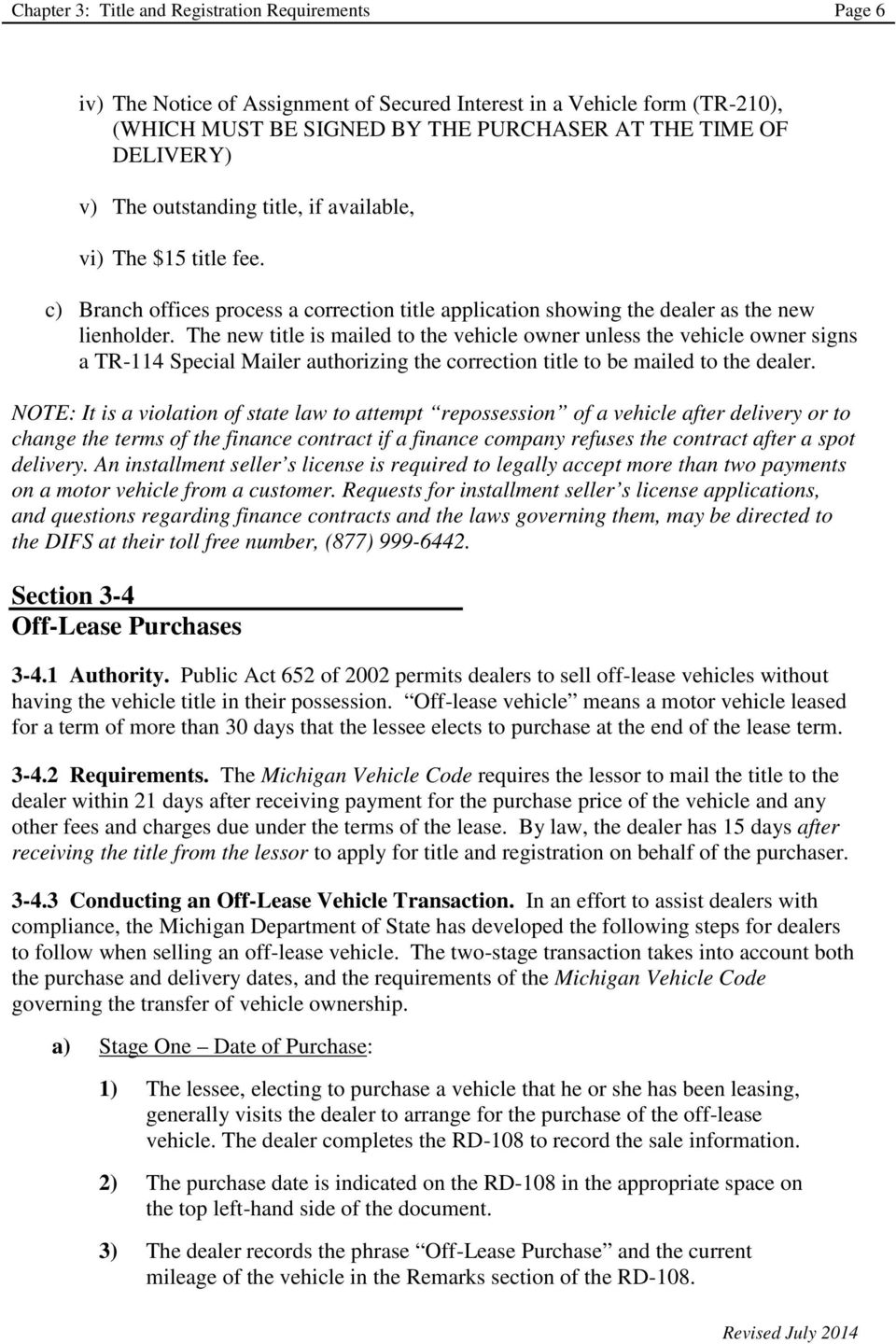 Chapter 3 Title And Registration Requirements Pdf