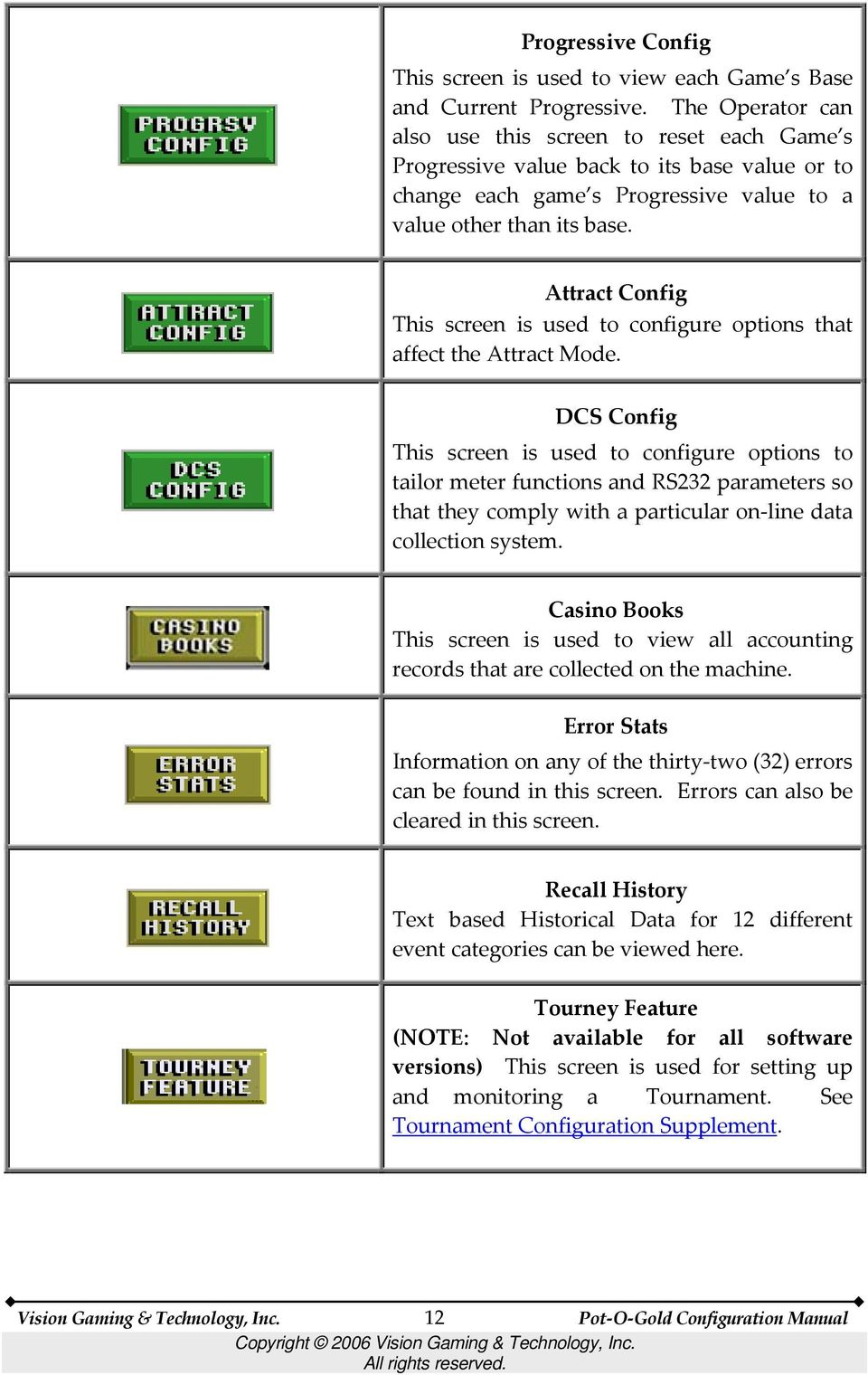 A Guide for Setting Up the Pot O Gold Software Configuring
