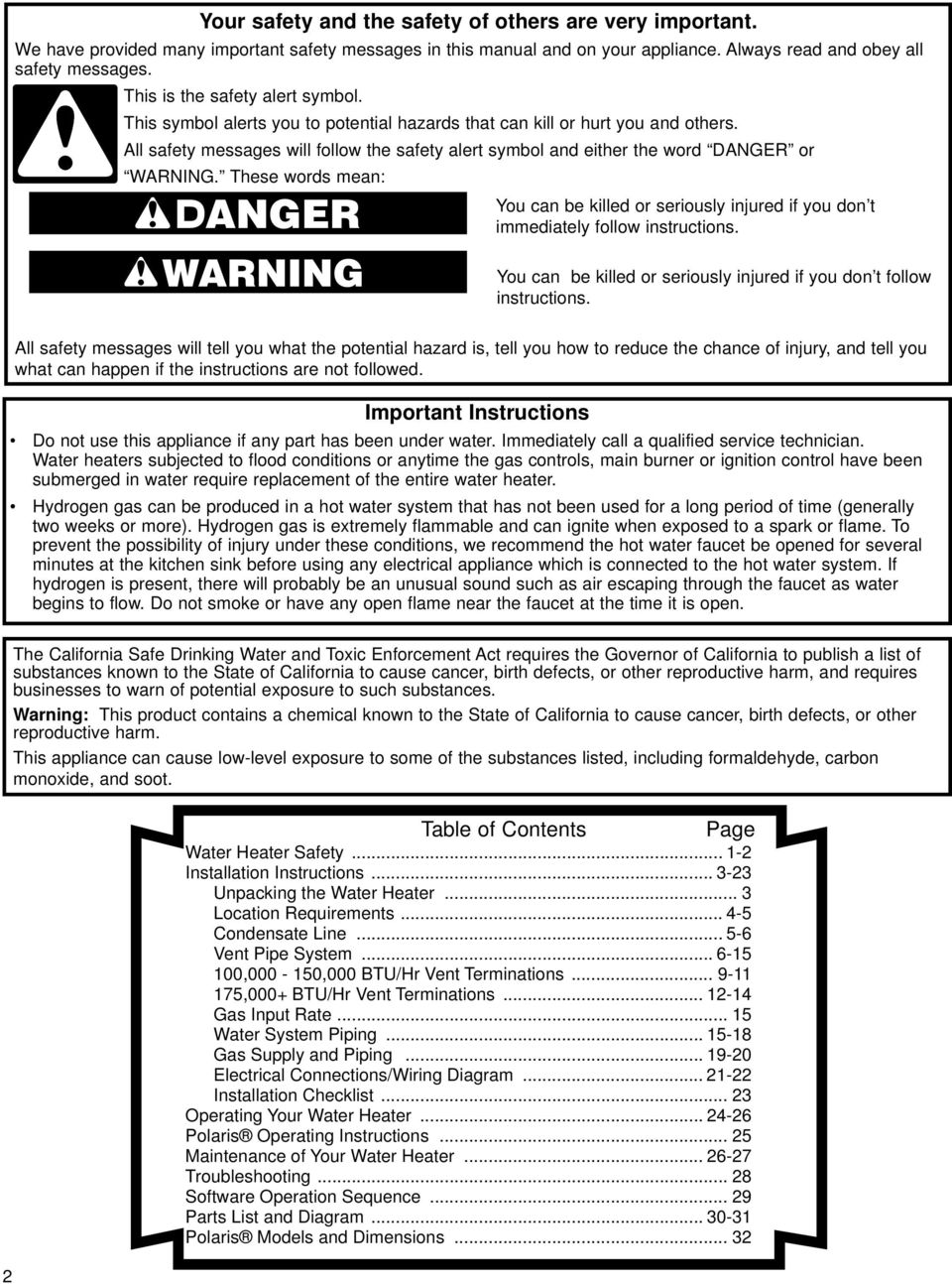 installation instructions and use care guide pdf all safety messages will follow the safety alert symbol and either the word danger or warning