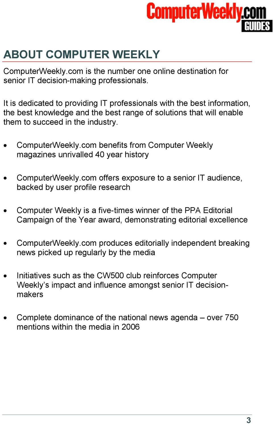 com benefits from Computer Weekly magazines unrivalled 40 year history ComputerWeekly.