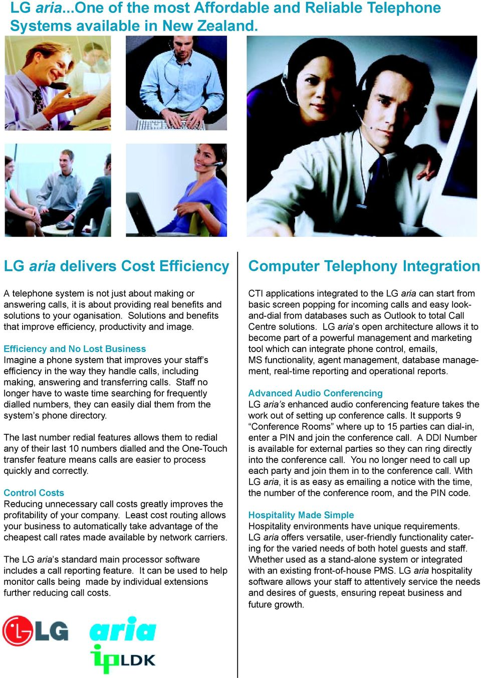 Solutions and benefits that improve efficiency, productivity and image.