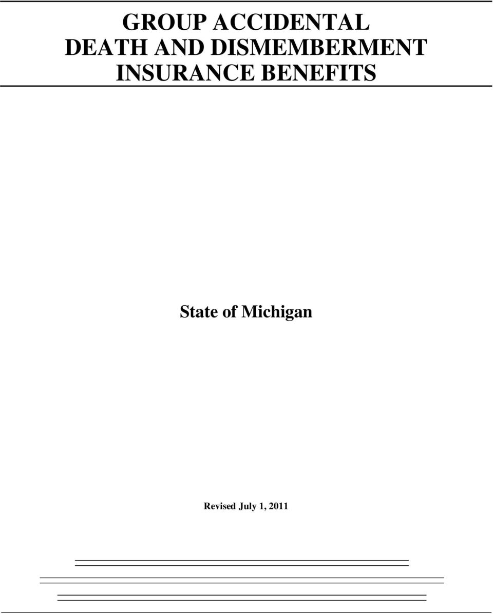 INSURANCE BENEFITS State