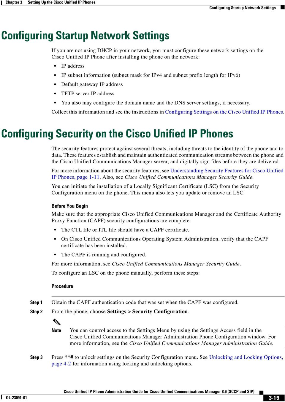 Setting Up the Cisco Unified IP Phones - PDF