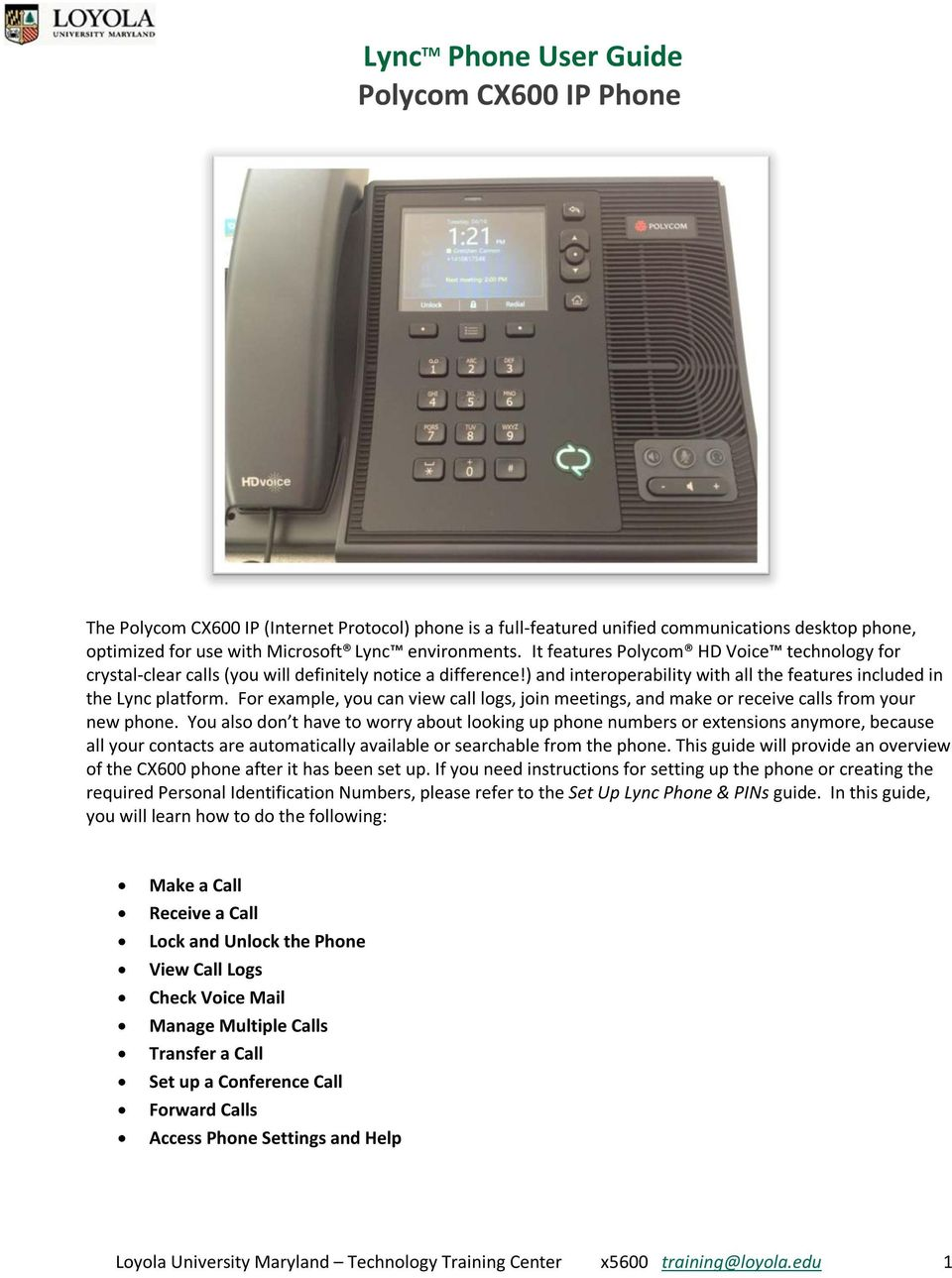 lync tm phone user guide polycom cx600 ip phone pdf rh docplayer net Polycom CX5500 Polycom CX5500