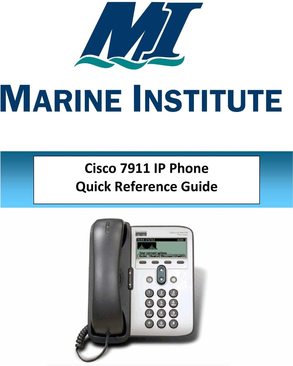 Cisco 7911 IP Phone Quick Reference Guide - PDF