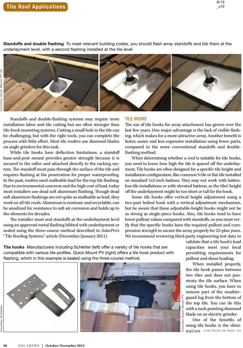 Tile Roof Applications Roofing Systems and Array Mounting