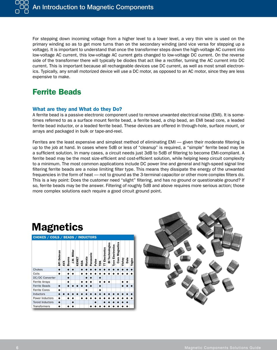 Magnetic Components Solutions Guide - PDF