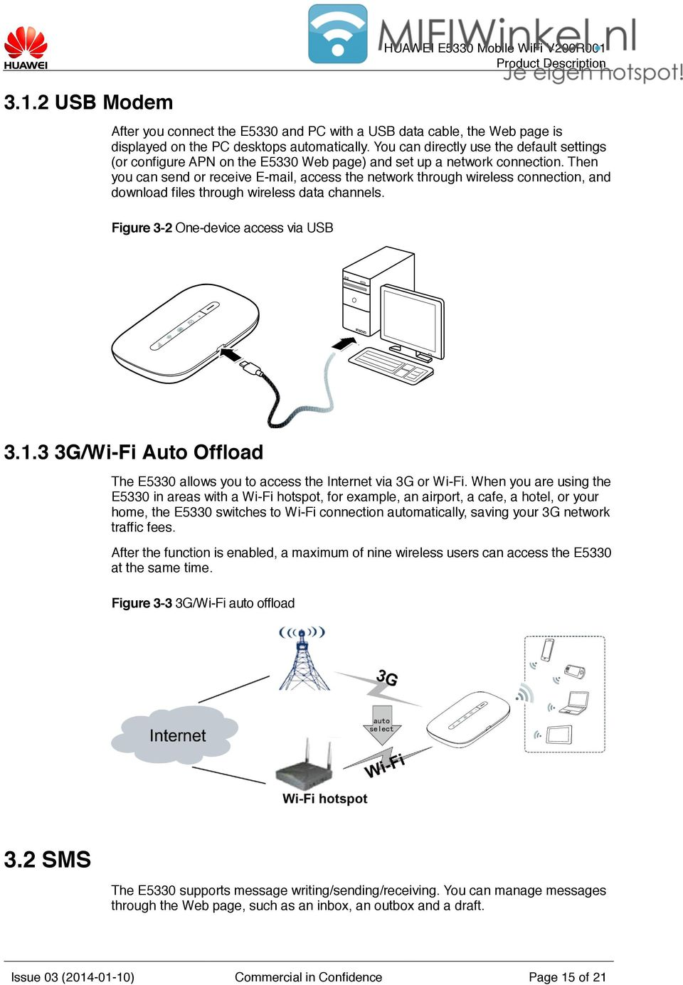Product Description  HUAWEI E5330 Mobile WiFi V200R001 HUAWEI