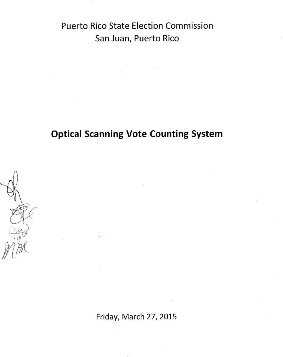 Rico Optical Scanning Vote