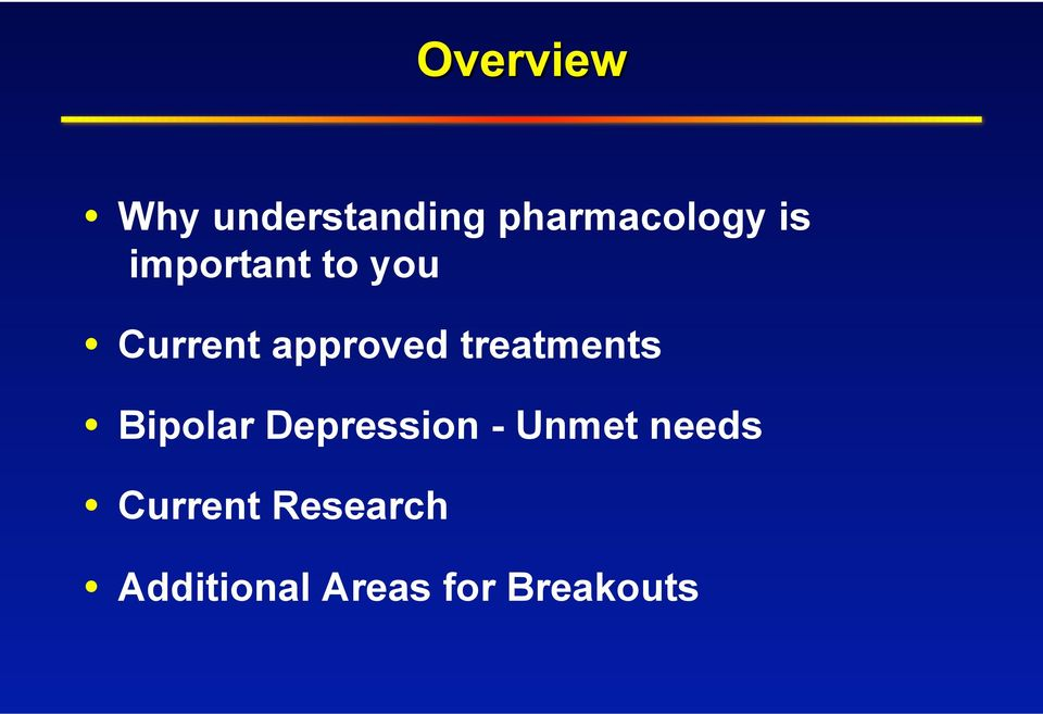 New Treatments  For Bipolar Disorder  Po W  Wang, MD