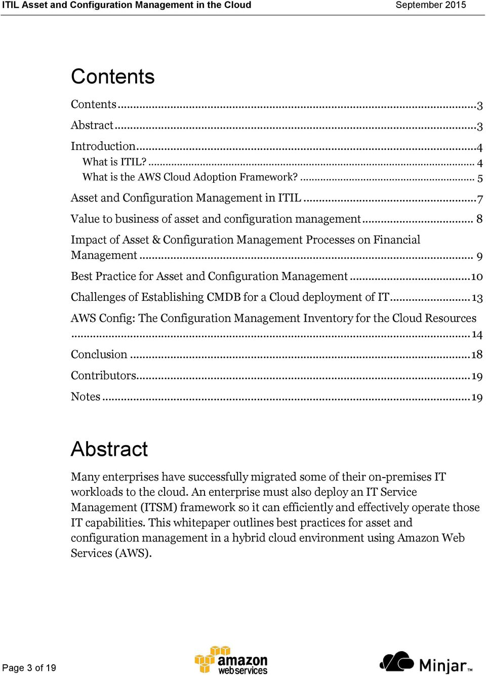 ITIL Asset and Configuration  Management in the Cloud - PDF