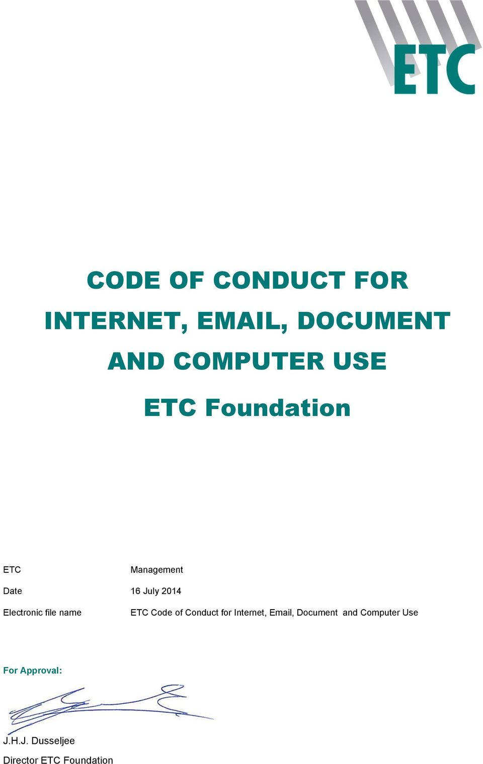 file name ETC Cde f Cnduct fr Internet, Email, Dcument and