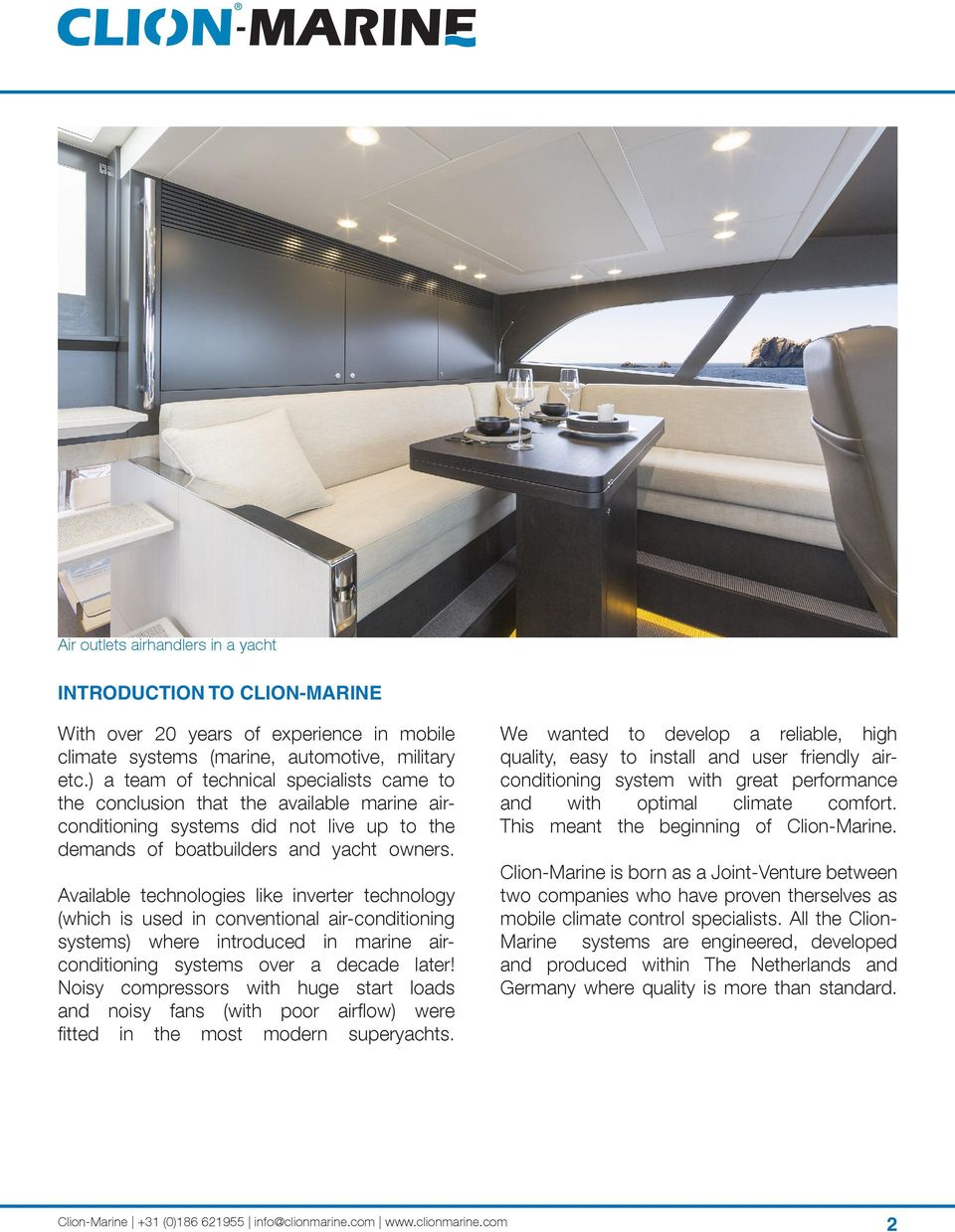 The most comfortable air-conditioning systems for yachts and