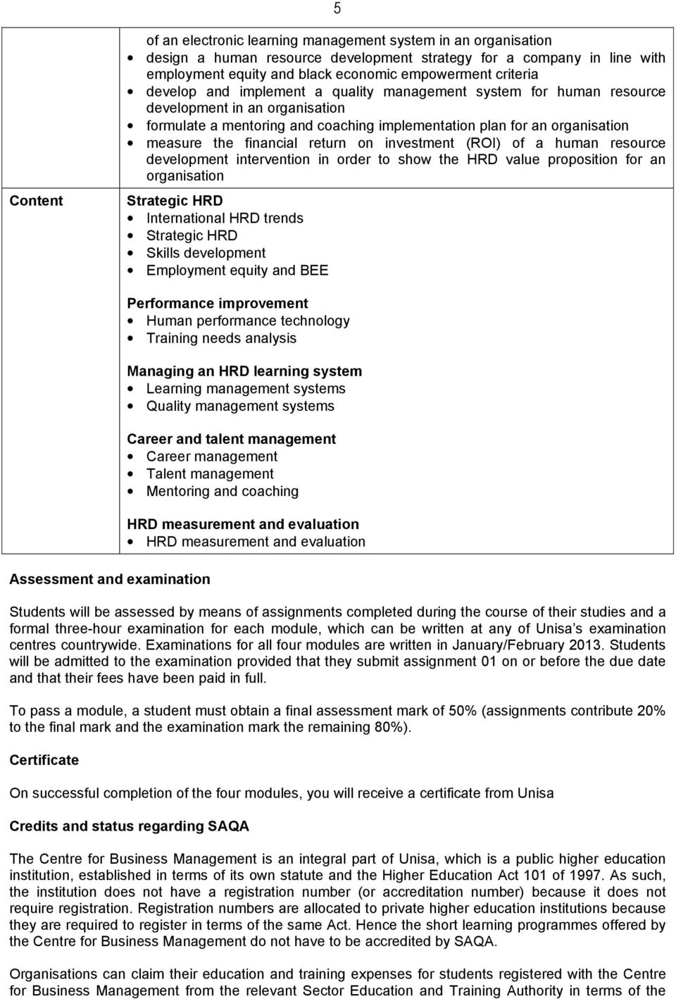 Advanced Programme In Human Resource Management Qualification Code