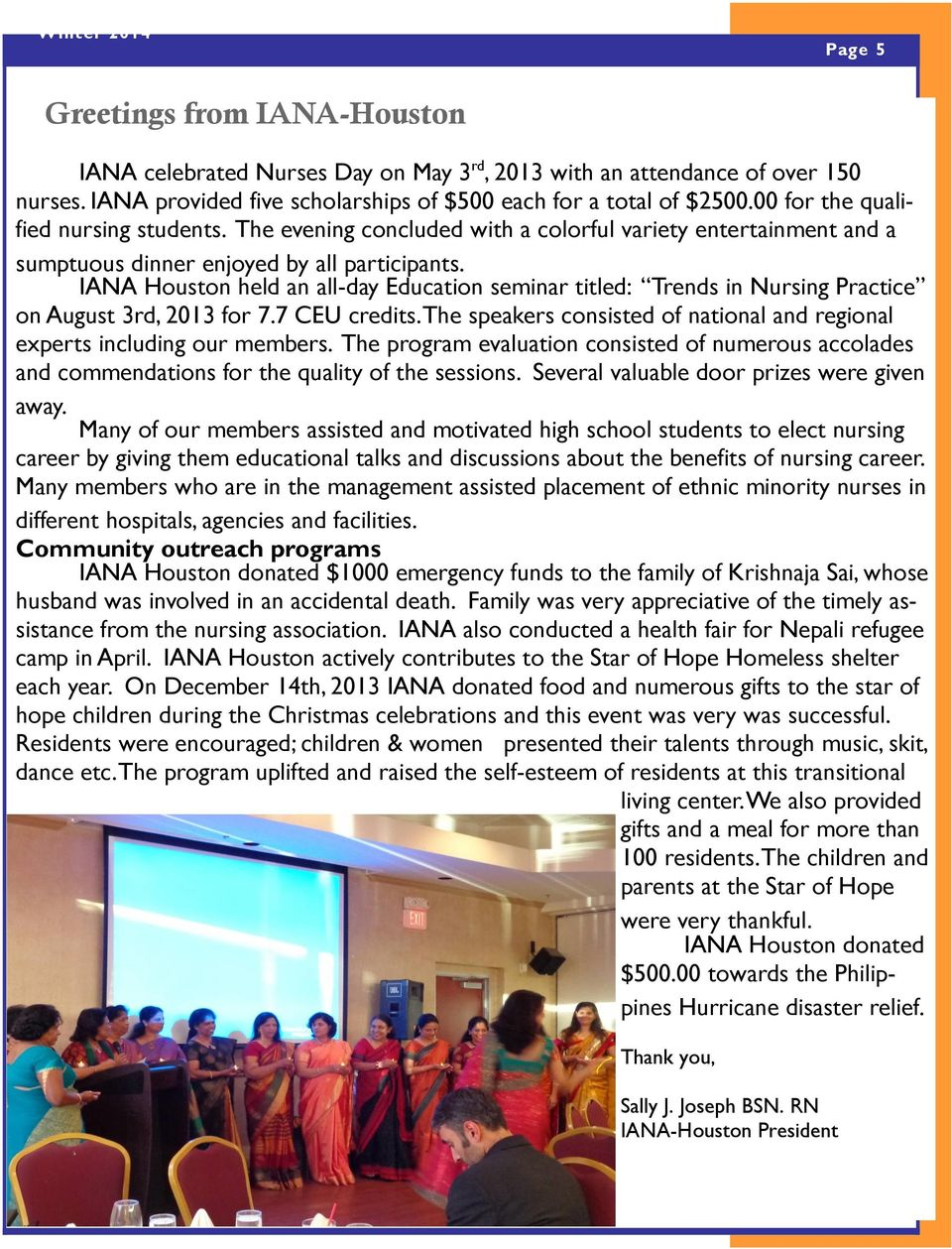 IANA Houston held an all-day Education seminar titled: Trends in Nursing Practice on August 3rd, 2013 for 7.7 CEU credits.