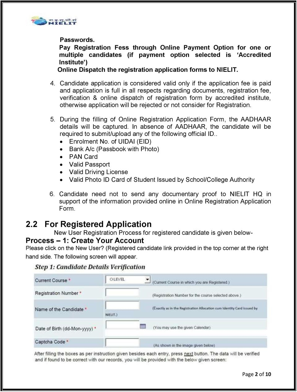 GUIDELINES AND INSTRUCTIONS FOR SUBMISSION OF ONLINE