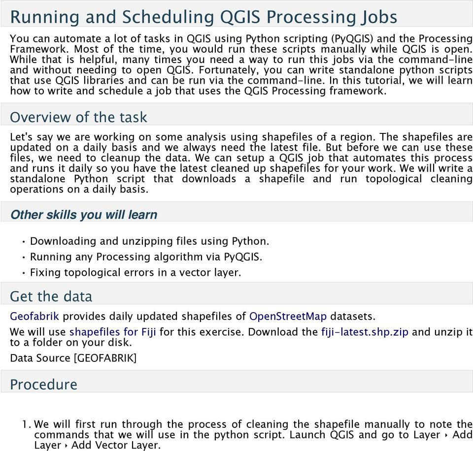 Running and Scheduling QGIS Processing Jobs - PDF