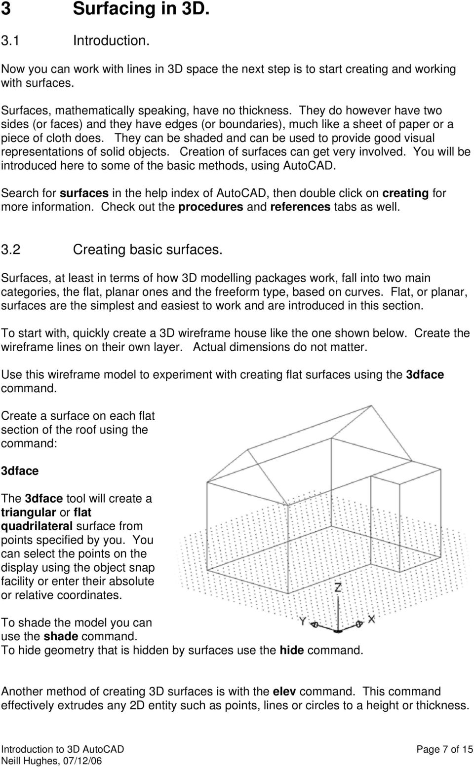 An introduction to 3D draughting & solid modelling using AutoCAD - PDF