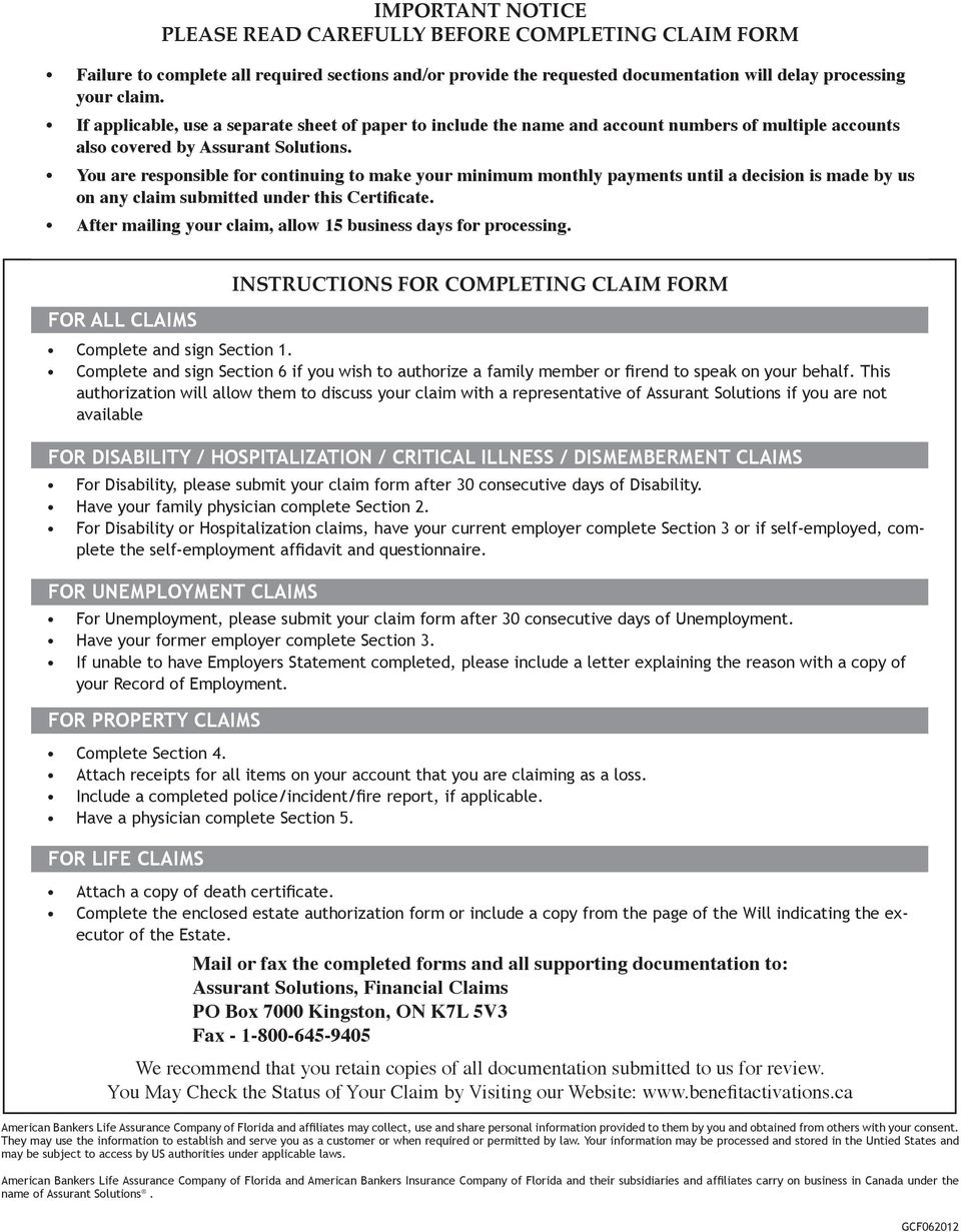 IMPORTANT NOTICE PLEASE READ CAREFULLY BEFORE COMPLETING ... on employee benefits form, workers compensation form, leave of absence form, job search form, immigration form, interest form, medicaid form, liability form, fmla form, maternity leave form, income form, healthcare form, wic form, security form, bankruptcy form, risk management form,
