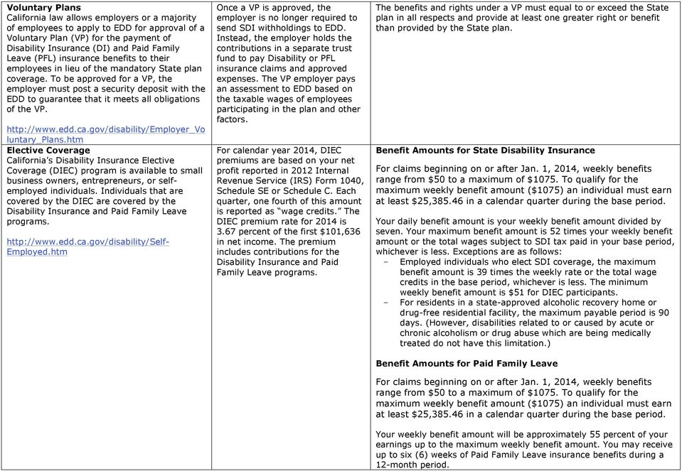 State Disability Insurance Laws - PDF