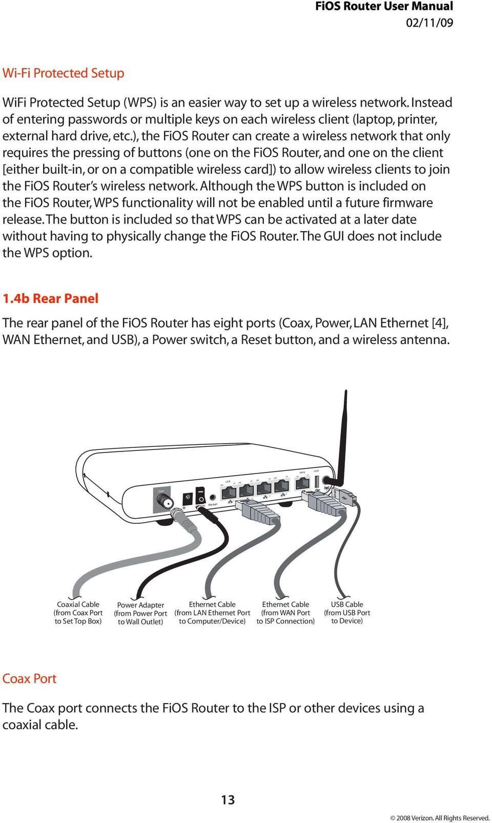 Verizon Fios Router Mi424wr User Manual Pdf Ethernet Wall Jack Wiring The Can Create A Wireless Network That Only Requires Pressing Of