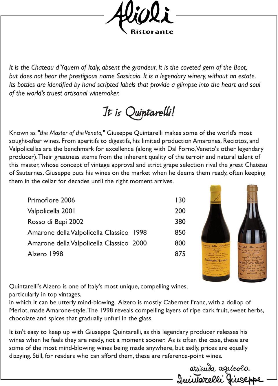 Classic Red & White  Wine Selections  Rare Wines - PDF