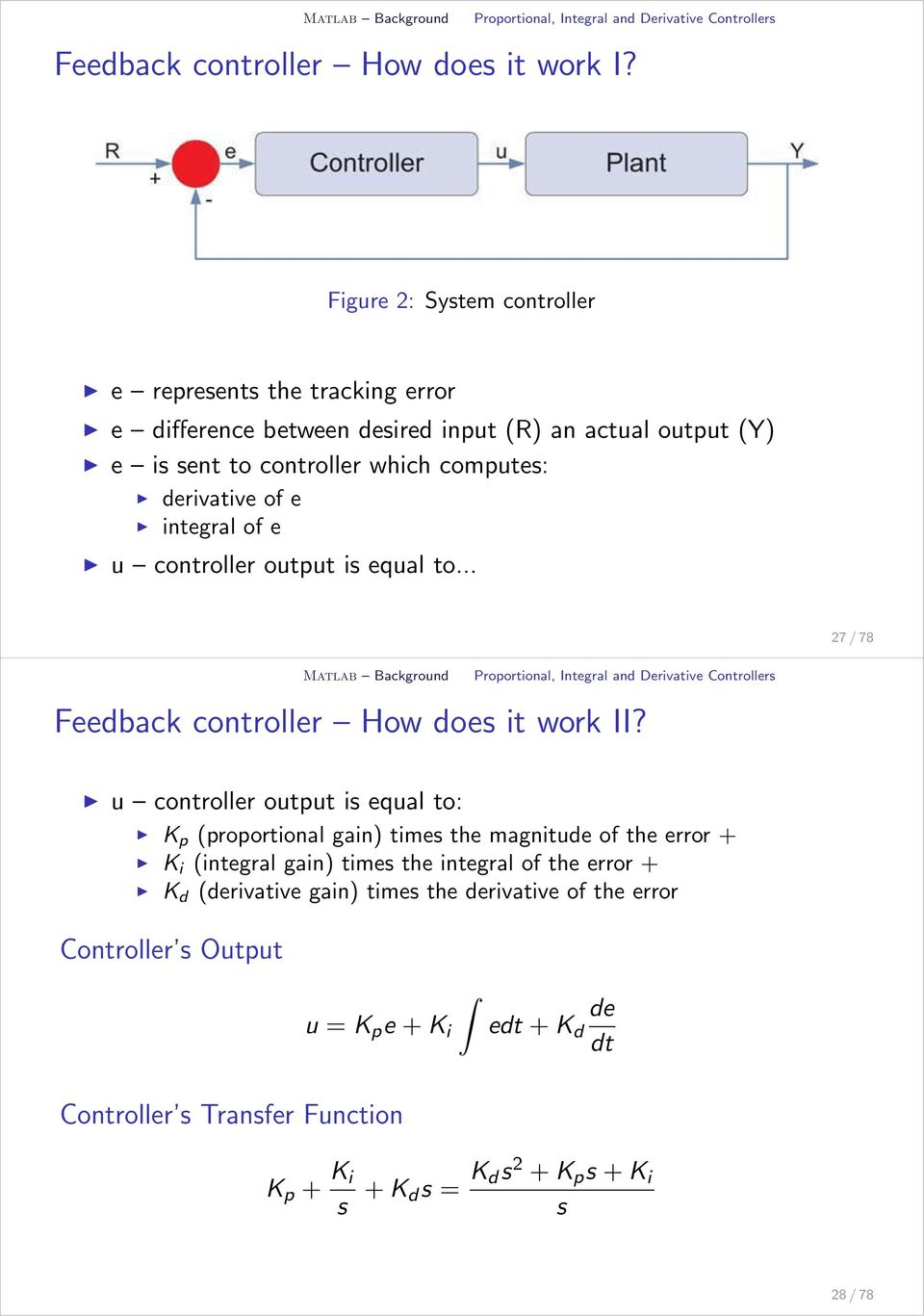 Matlab and Simulink  Matlab and Simulink for Control - PDF