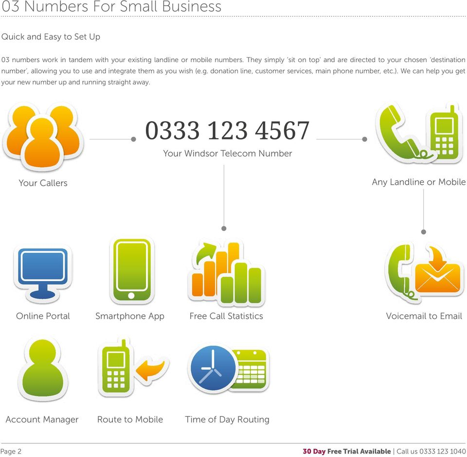 ). We can help you get your new number up and running straight away.