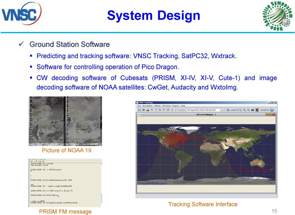 CW decoding software of Cubesats (PRISM, XI-IV, XI-V, Cute-1) and image decoding software