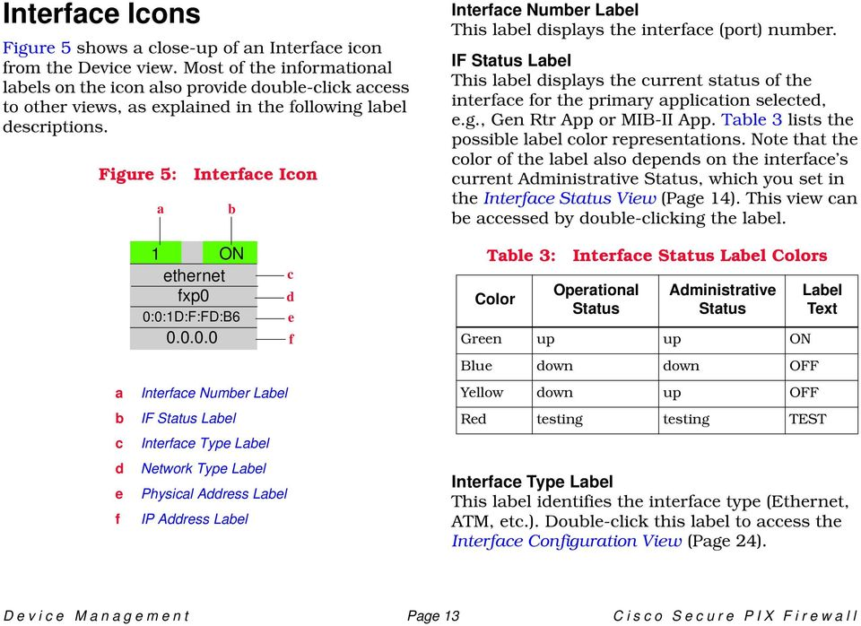 Figure 5: a Interface Icon b Interface Number Label This label displays the interface (port) number.
