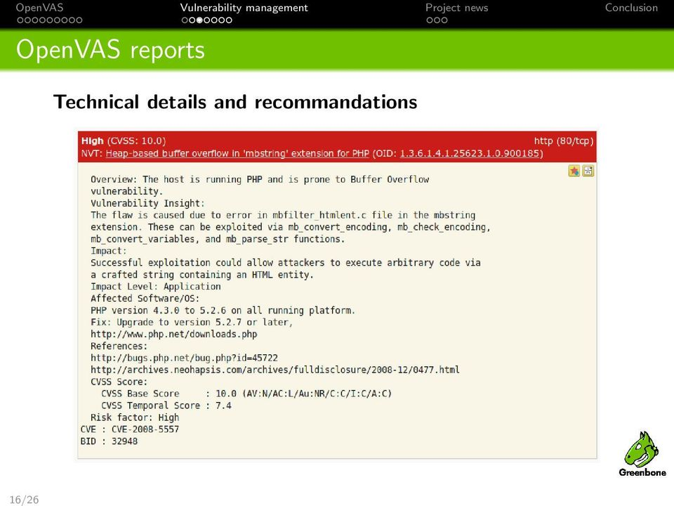 Vulnerability management with OpenVAS - PDF