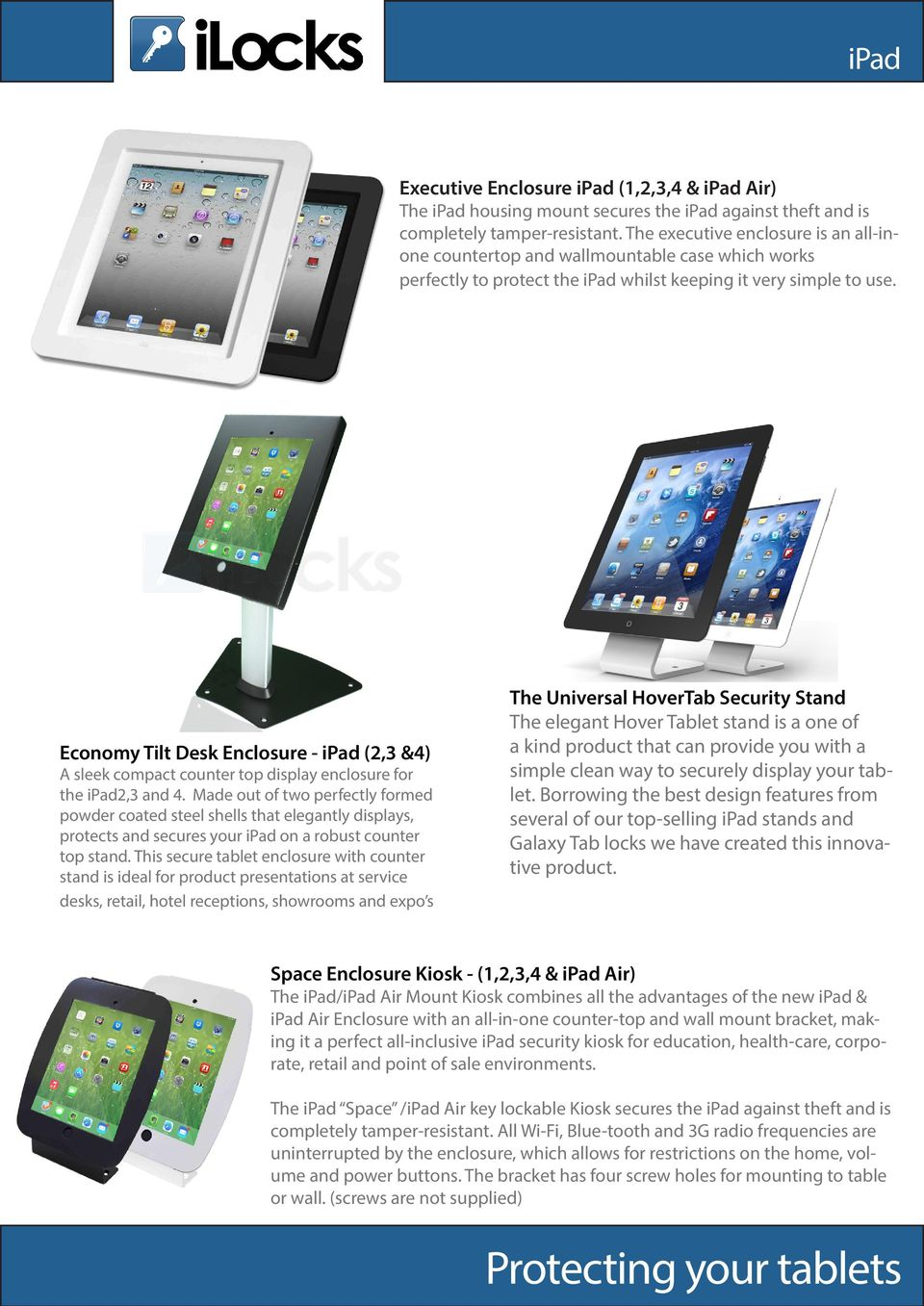 Leading The Way In Tablet Security Product Catalogue August Advan Itab 7 Inch New Economy Tilt Desk Enclosure Ipad 23 4 A Sleek Compact Counter