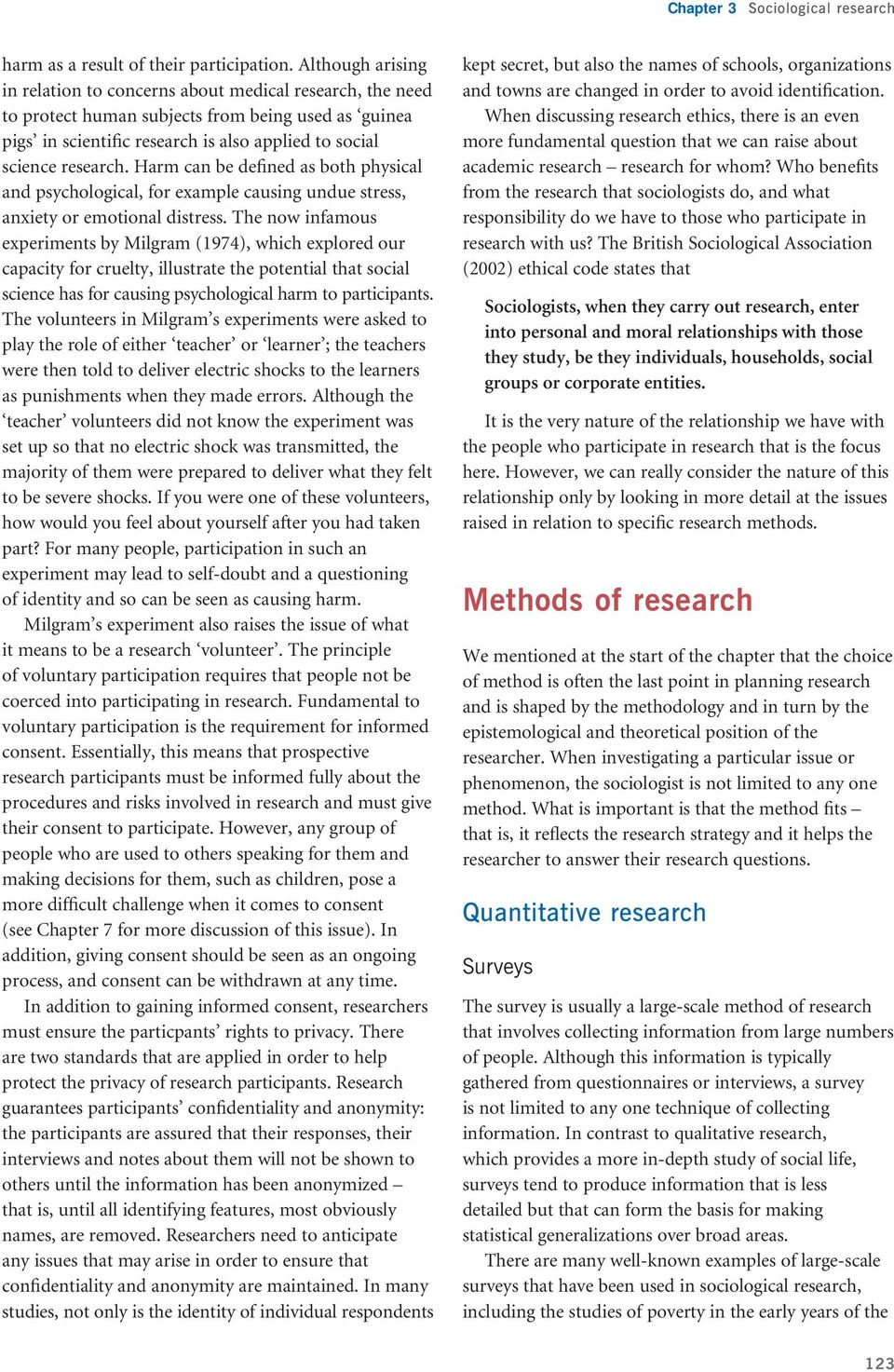 Chapter 3  Sociological research  Key issues  Introduction