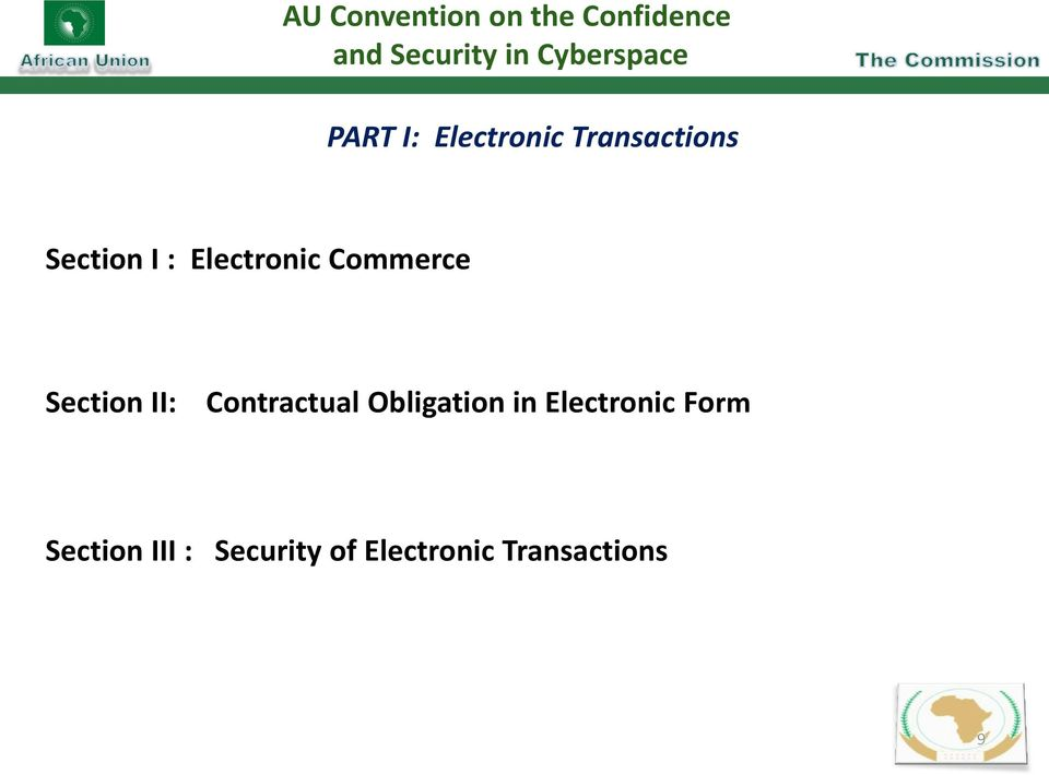 Electronic Commerce Section II: Contractual Obligation